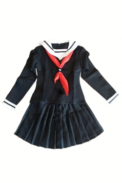 Black Sexy Womens Hell Girl Halloween School Girl Costume