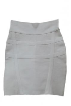 White Vintage Sexy Womens Bandage Stripe Pencil Skirt