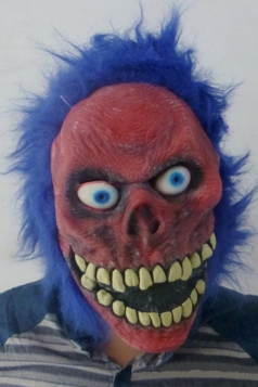 Red Latex Creepy Demon Halloween Mask