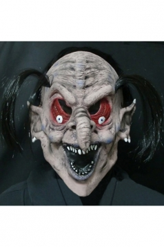 Beige White Wicked Witch Latex Halloween Mask