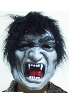 White Creepy Zombie Latex Halloween Mask