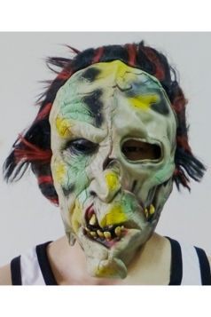 Khaki Latex Grim Devil Halloween Mask