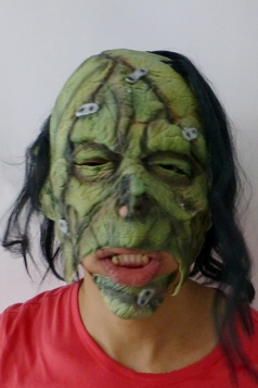 Creepy Latex Green Giant Halloween Mask