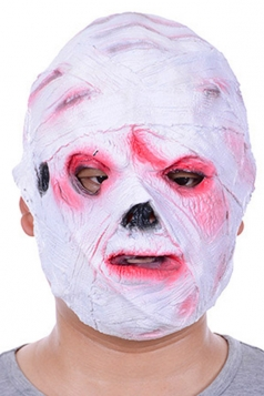 White Scary Mummy Latex Halloween Mask