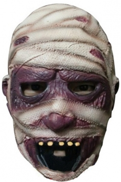 Beige Latex Creepy Mummy Halloween Mask
