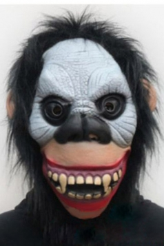 Gray Horrible Gorilla Latex Halloween Mask