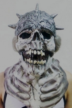 Gray Latex Creepy Demon Halloween Mask