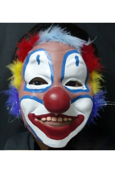 White Grim Clown Latex Halloween Mask