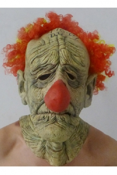 Khaki Latex Scary Clown Halloween Mask