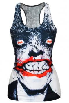 Black Horror Womens Zombie Printed Tank Top