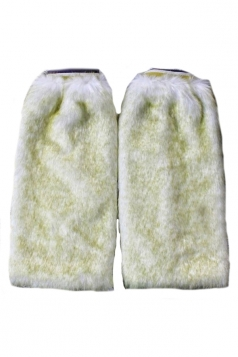Green Fashion Womens Faux Fur Rabbit Hair Winter Leg Warmers