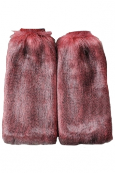 Ruby Cool Ladies Faux Peacock Hair Leg Warmers
