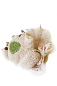 Khaki Cute Ladies Capped Cat Bear Paw Winter Gloves