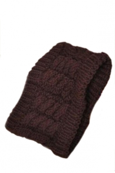 Coffee Ladies Beanie Fashion Headband Knitted Hat