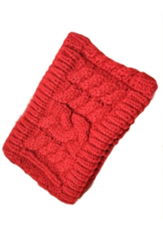 Red Ladies Beanie Fashion Headband Knitted Hat