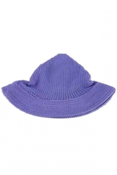 Blue Lovely Ladies Peaked Wool Knitted Hat