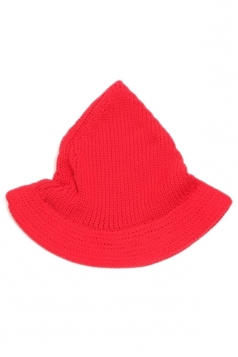 Red Lovely Ladies Peaked Wool Knitted Hat