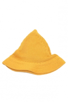 Yellow Lovely Ladies Peaked Wool Knitted Hat