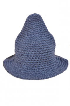 Navy Blue Womens Trendy Peaked Bucket Knitted Hat