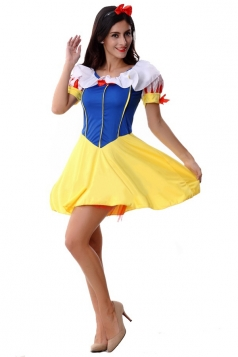 Blue Fancy Snow White Fairytale Halloween Classic Costume
