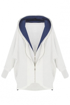White Comfortable Ladies Cotton Cardigan Plain Hoody