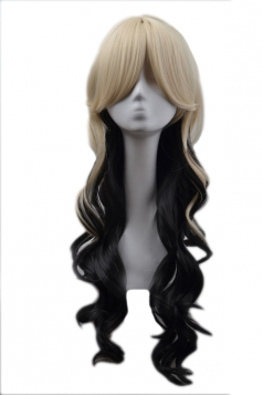 Gold Cool Ladies Gradient Party Curly Long Hair