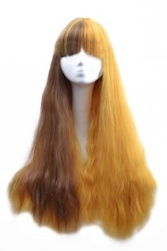 Gold Fashion Womens Hot Corn Curly Gradient Long Hair