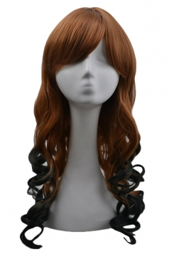 Green Sexy Womens Gradient Curly Cosplay Party Long Hair