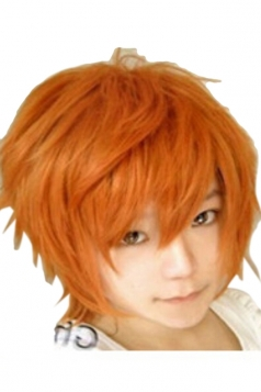 Orange Fashion Unisex Party Cosplay Short Hair