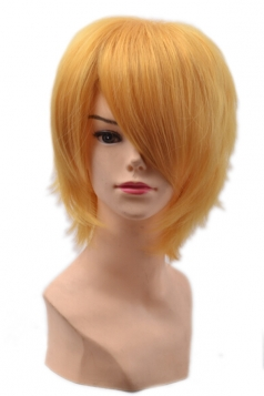 Gold Fashion Unisex Party Cosplay Short Hair