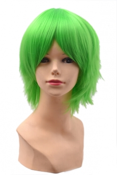Green Fashion Unisex Party Cosplay Short Hair
