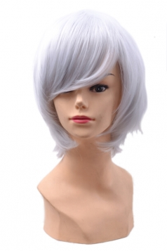 Gray Fashion Unisex Party Cosplay Short Hair
