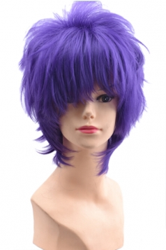 Purple Fashion Unisex Party Cosplay Short Hair