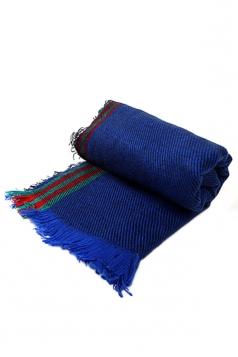 Blue Trendy Ladies Fringe Shawl Warm Winter Strip Scarf