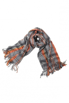 Gray Pretty Ladies Charming British Style Plaid Scarf