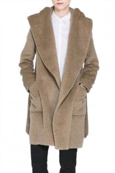 Khaki Fashion Ladies Charming Hooded Duffel Coat