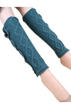 Green Pretty Ladies Argyle Lace Button Knitted Leg Warmers