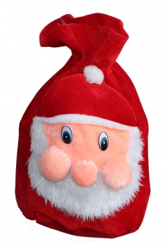 Red Cute Womens Santa Claus Gift Bag Christmas Accessory