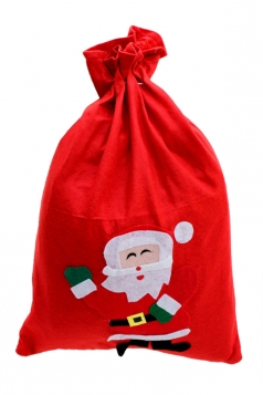 Red Cute Ladies Santa Claus Gift Bag Christmas Accessory