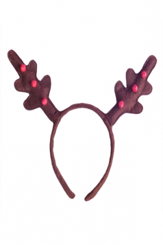 Coffee Cool Womens Reindeer Antlers Head Hoop Christmas Accessory