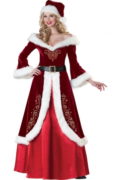 Ruby Modern Womens Strapless Christmas Queen Dress Santa Costume