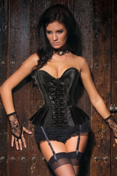 Black Sexy Womens Bowknot Slimming Royal Over Bust Corset