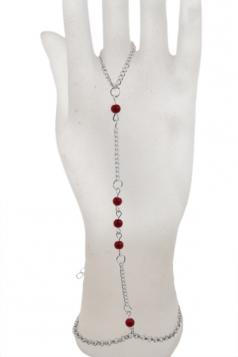 Silvery Trendy Womens Bohemian Pearl Bracelet
