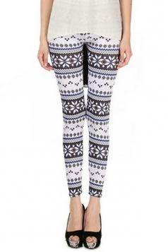 Black Simple Womens Qmilch Snowflake Printed Sweater Leggings