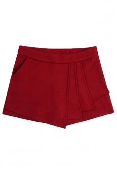 Ruby Retro Womens Sexy Ruffle Tweed Thick Mini Shorts