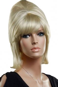 Gold Pretty Womens Fluffy Curly Short Hair