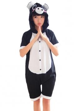 Black Ladies Pig Cotton Jumpsuit Romper Pajamas Animal Costume