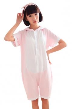 Pink Cool Womens Dinosaur Cotton Jumpsuit Pajamas Animal Costume