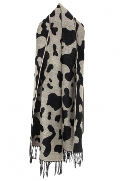 Black Dalmatian Pattern Womens Fashion Warm Scarf