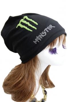 Black Trendy Womens Lined Hip-pop Hat Fluorescence Cap Hat